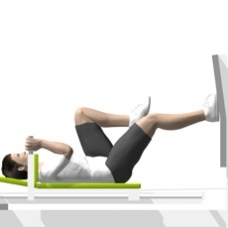 Sled Leg Press, Single Leg Ending Position