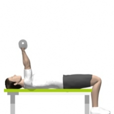 Dumbbell Triceps Extension, Lying Starting Position