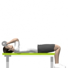 Dumbbell Triceps Extension, Lying Ending Position