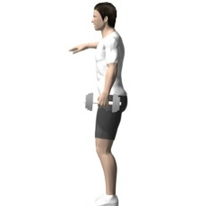Dumbbell Suitcase Squat Starting Position