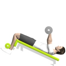 Barbell Push Crunch Starting Position