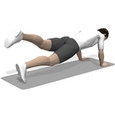 Leg Raise, Push-up Position