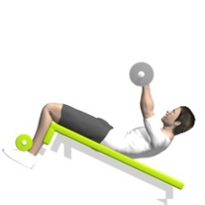 Barbell Push Crunch Ending Position