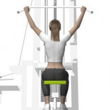 Cable Lat Pulldown, Front Starting Position