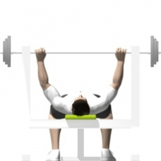 Barbell Bench Press Starting Position