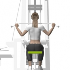 Cable Lat Pulldown, Front Ending Position