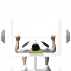 Barbell Bench Press Ending Position