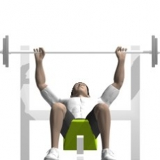 Barbell Bench Press, Incline Starting Position