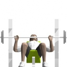 Barbell Bench Press, Incline Ending Position