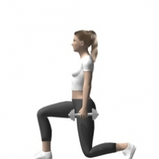 Dumbbell Lunge Ending Position