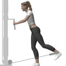 Cable Hip Extension, Standing Ending Position