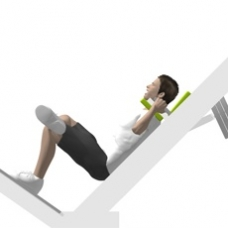 Sled Hack Squat, Single Leg Ending Position