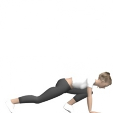 "Bodyweight Only ""Mountain Climber"" / ""Floor Sprint"" Ending Position"