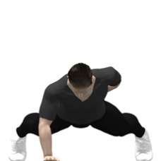 Bodyweight Only Push-up, One Arm Starting Position