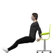 Chair Dip Starting Position  sc 1 st  bodytrainer.tv & Dip Chair | Exercise | Strength-Training