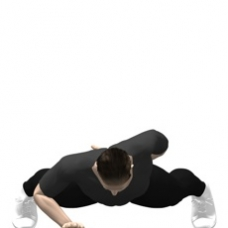 Bodyweight Only Push-up, One Arm Ending Position