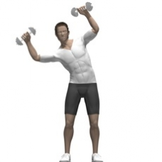 Dumbbell Saxon Side Bend Starting Position