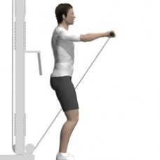 Cable Front Raise, Rope Ending Position