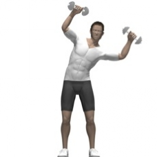Dumbbell Saxon Side Bend Ending Position