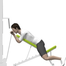 Cable Incline Curl, Prone Ending Position