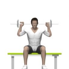 Barbell Behind Neck Press, Seated Starting Position