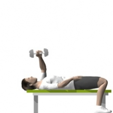 Dumbbell Pull-over, One Arm Starting Position
