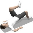 Hip Raise, Supine, One Leg