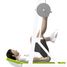 Sled Vertical Leg Press, Single Leg Starting Position