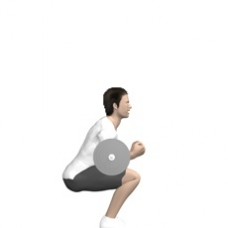 Barbell Zercher Squat Ending Position