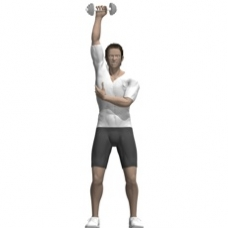 Dumbbell Triceps Extension, Standing, One Arm Ending Position