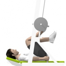 Sled Vertical Leg Press, Single Leg Ending Position
