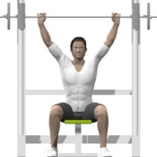 Smith Press Shoulder Press Starting Position
