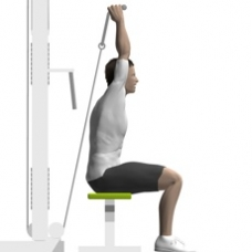 Cable Triceps Extension, Seated Ending Position