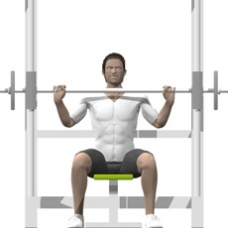 Smith Press Shoulder Press Ending Position