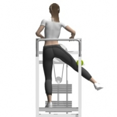 standing hip abduction lever exercise strength training