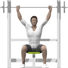 Smith Press Behind Neck Press Starting Position