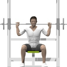 Smith Press Behind Neck Press Ending Position