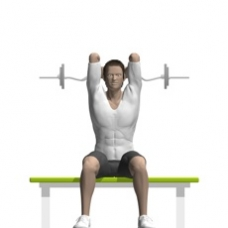 Ez-Bar Triceps Extension, Seated Starting Position