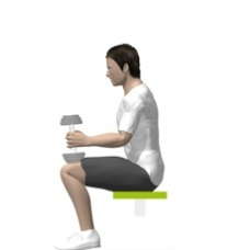 Calf Press Seated Dumbbell Exercise Strength Training