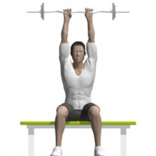 Ez-Bar Triceps Extension, Seated Ending Position