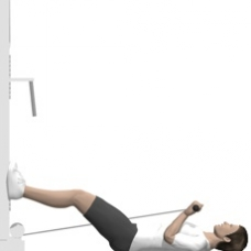 Cable Curl, Supine Ending Position