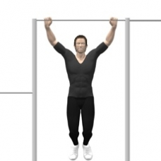 Monkeybars Pull-up Starting Position
