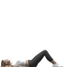 Mat Bridge, Supine, Leg Extension Starting Position