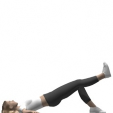 Mat Bridge, Supine, Leg Extension Ending Position