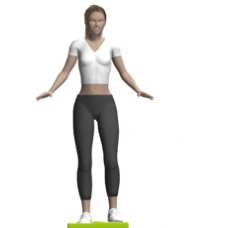 Balance Pad Hip Abduction, Standing Starting Position