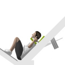 Sled Hack Squat, Full Range of Motion Ending Position