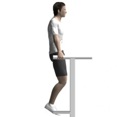 Bodyweight Only Knee Raise, Parallel Bars Starting Position