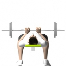 Ez-Bar Bench Press, Close Grip Ending Position