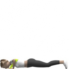 Elastic Band Push-up Starting Position