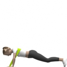 Elastic Band Push-up Ending Position